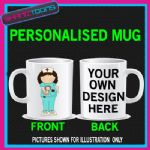 NURSE LADIES MUG PERSONALISED GIFT 001